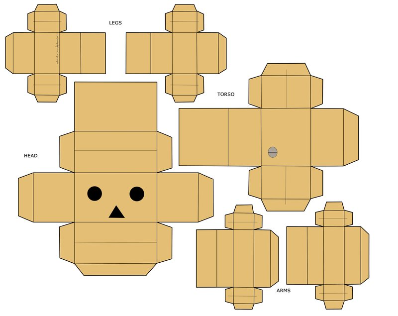 Danbo Papercraft Template